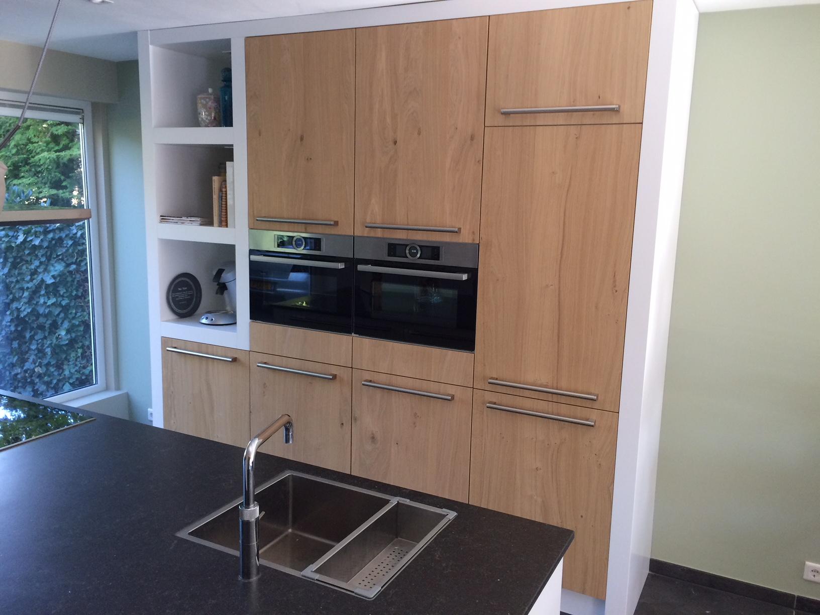 Eiken Keuken Met Witte Omlijsting Verkerk Interieurbouw